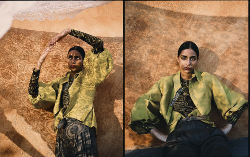 Fashion Editorial for Vogue Poland with makeup by Kama Jankowska