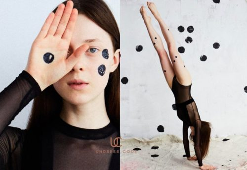 Commercial for Undresscode with makeup by Kama Jankowska
