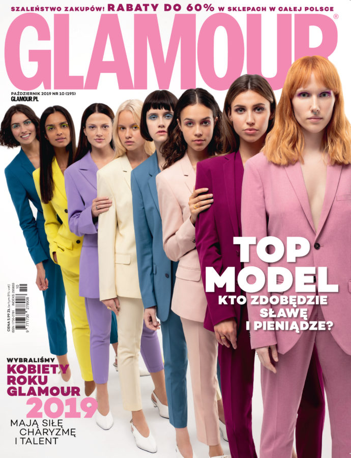 Cover story for Glamour x Top Model, October 2019 photographed by Ala Wesolowska
