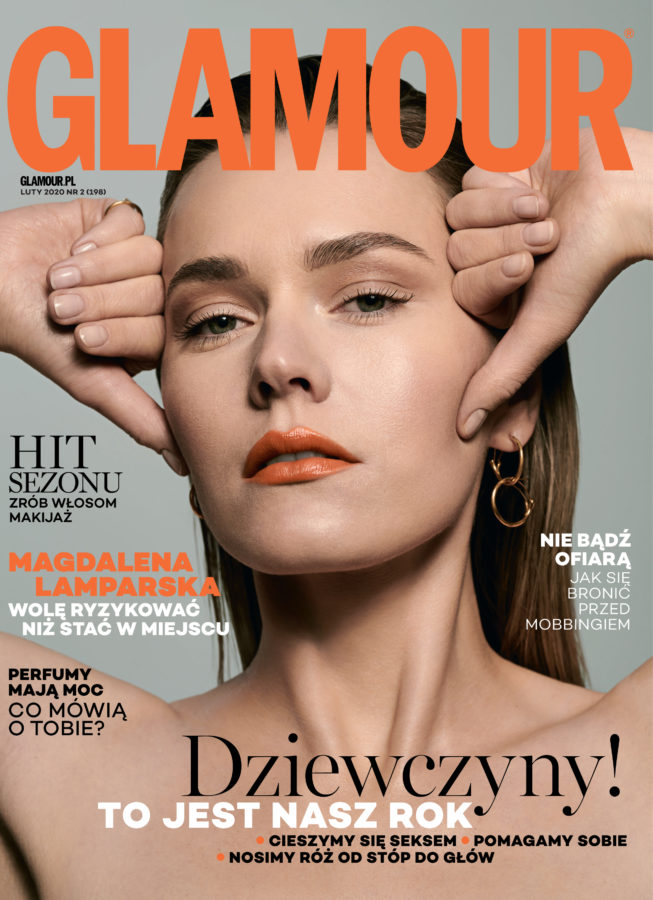 Cover Story for Glamour with Magdalena Lamparska, photographed by Ala Wesolowska