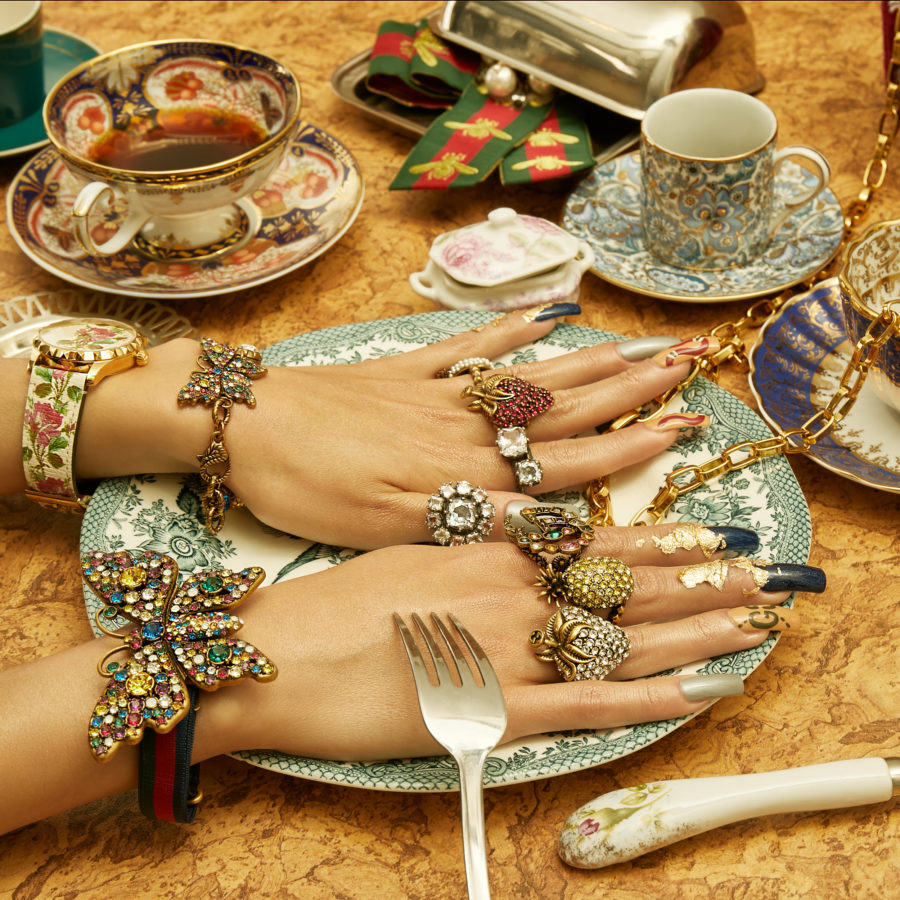 Commercial jewellery project for Vitkac, photographed by Ala Wesolowska and manicure by Patrycja Jewsienia