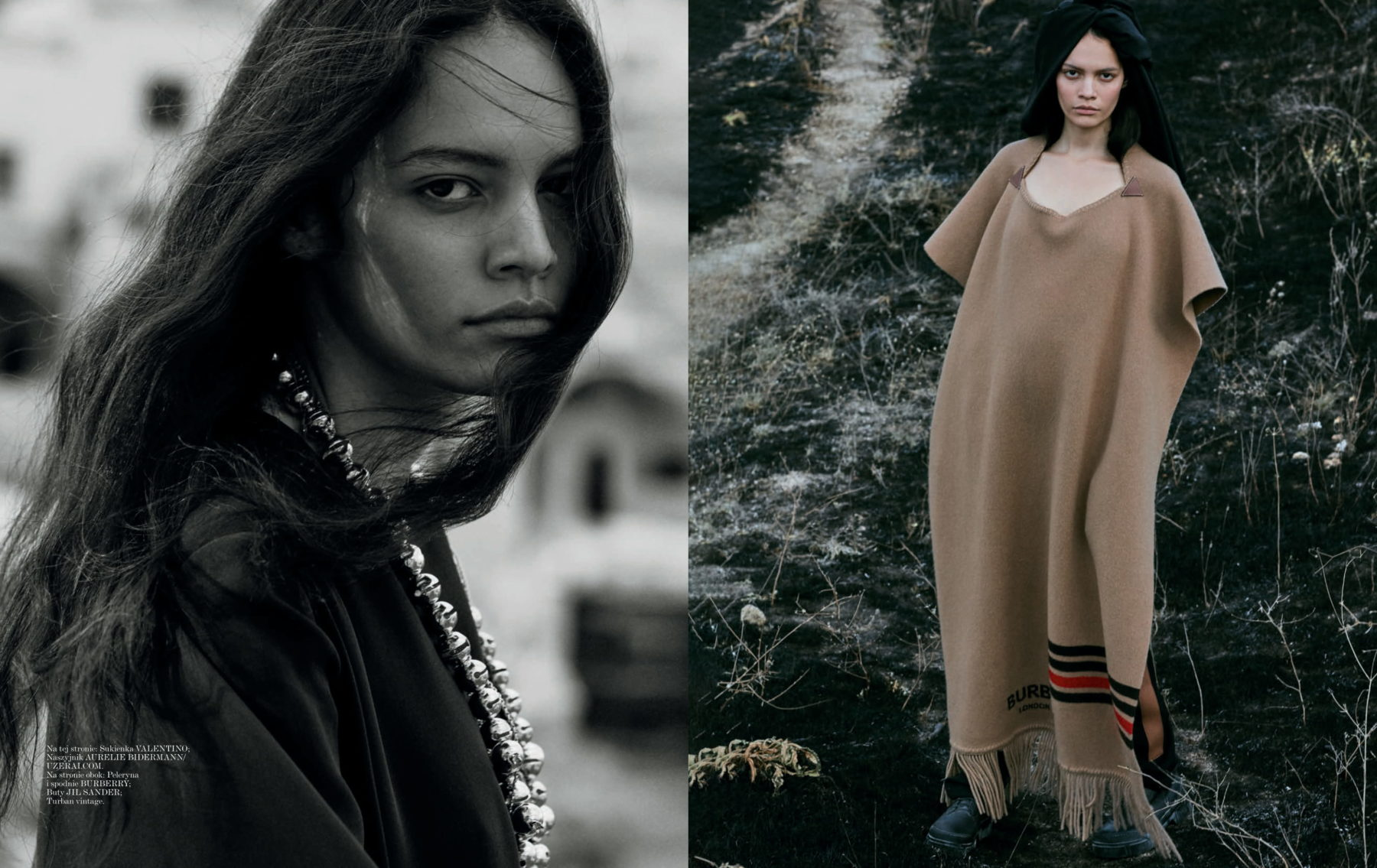 Editorial for Vogue Poland with makeup by Kama Jankowska