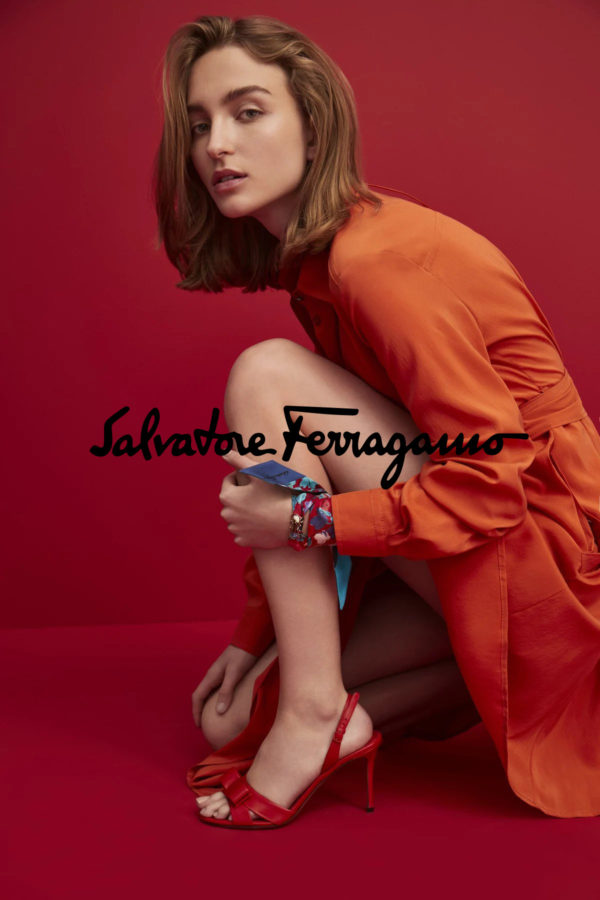 Commercial for Salvatore Ferragamo with makeup and hair by Kama Jankowska