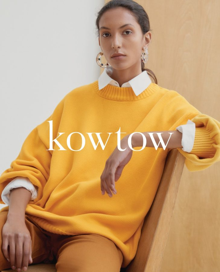 Commercial work for KowTow with makeup & hair by Aga Brudny