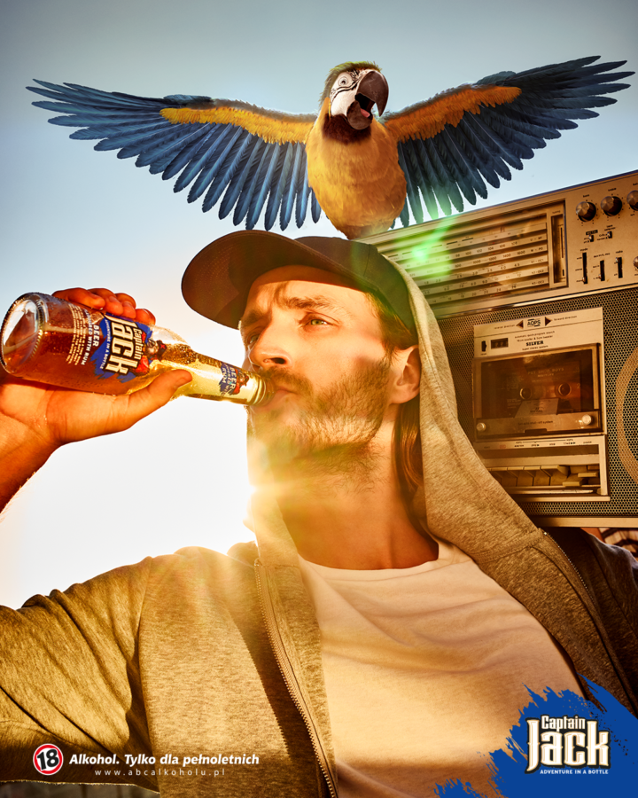 Advertising for Captain Jack styled by Janek Kryszczak