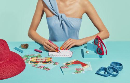 Advertising for Neo Nail by makeup artist Magdalena Winska