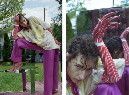 Fashion Editorial for Schön Magazine with hairstyle by Michal Pasymowski