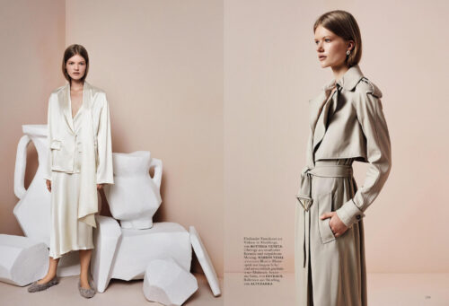 Editorial for Harper's Bazaar Germany with makeup & hair by Kama Jankowska