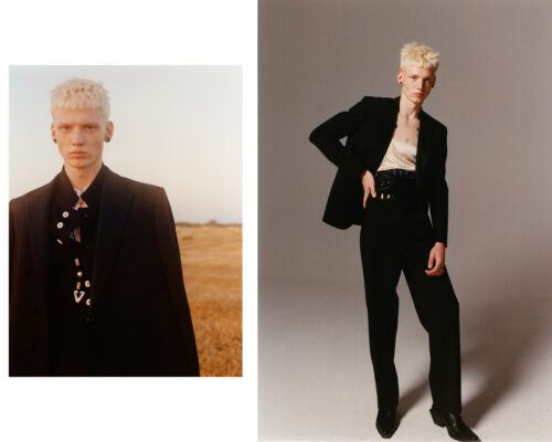 Mens editorial for Behind The Blinds photographed by Lola Banet