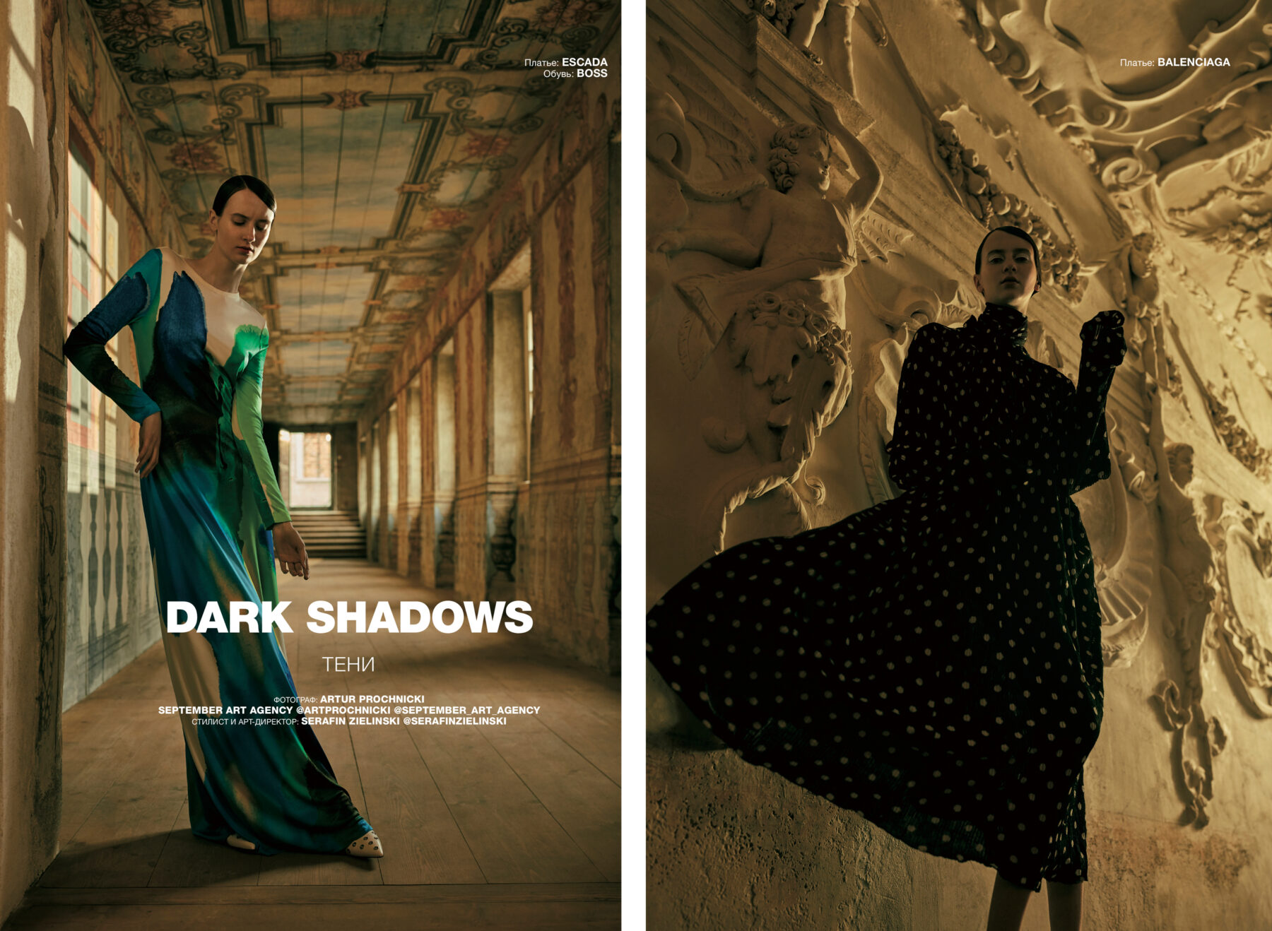 Fashion editorial for Numero Russia by makeup artist Aga Brudny