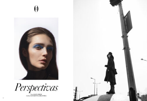 Fashion editorial for Loffciel Argentina with hair style by Michal Pasymowski